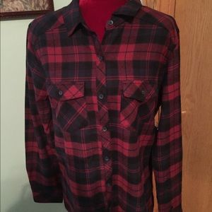 Tops - 🛍SALE ✅NWT RED&BLK PLAID FLANNEL SHIRT  S,M,XL